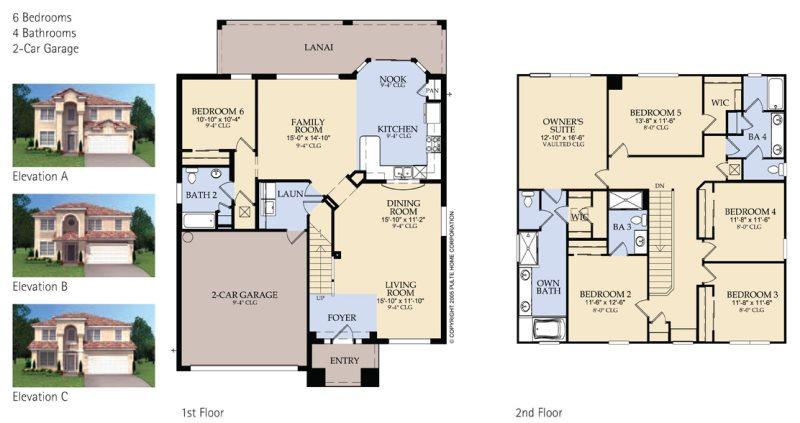 Floor Plan for Windsor Hills Dream Villa