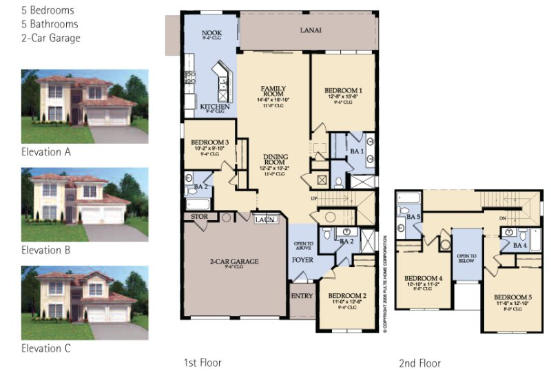 Floor Plan for Windsor Hills Sunset Villa 1